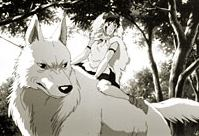 Moro and San in Princess Mononoke