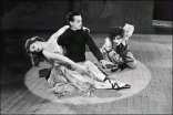 Moira Shearer, Robert Helpmann, and Leonide Massine in The Red Shoes